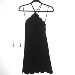 Your Everything Black Backless Skater Dress